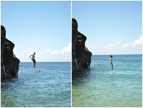 Waimea Bay Rock Jumping 3